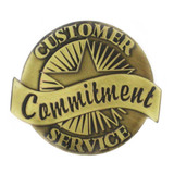 Customer Service Commitment Pin