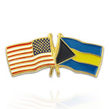 USA and Bahamas Flag Pin