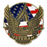 Proudly Served Veteran Pin with Magnetic Back