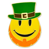 Leprechaun Smiley Face Pin
