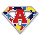 Autism Superhero Symbol Pin