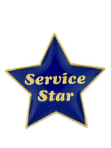 Service Star Pin - Blue and Gold