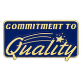 Commitment to Quality Pin