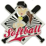 Softball - Girl Player Pin