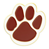 Paw Pin - Maroon and White