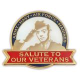 Salute to Veterans Pin