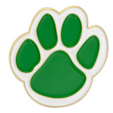 Paw Pin - Green and White