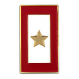 Gold Star Service Flag Pin