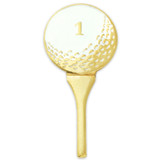 Golf Ball and Tee Pin
