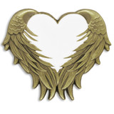White Heart With Wings Pin