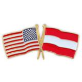 USA and Austria Flag Pin