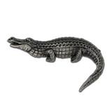 Alligator Pin - Antique Silver