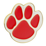 Paw Pin - Red and White
