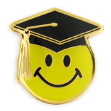 Smile Face Graduation Pin