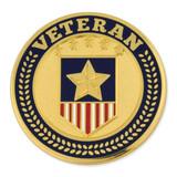Veteran Shield Circle Pin