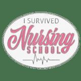I Survived Nursing School Pin