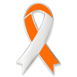 Awareness Ribbon-Orange Engravable Pin