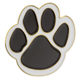 Paw Pin - Black and White