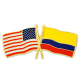 USA and Colombia Flag Pin