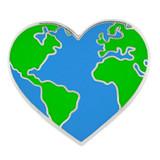 Heart Shaped Earth Pin