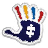 Autism Handprint Pin