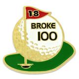 Golf - Broke 100 Pin