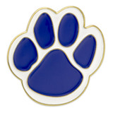 Paw Pin - Blue and White