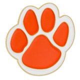 Paw Pin - Orange and White
