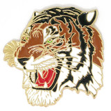 Mascot Tiger Colored Lapel Pin