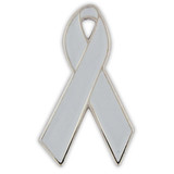 Grey Ribbon Pin