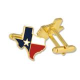 Texas State Shape Cufflink Set