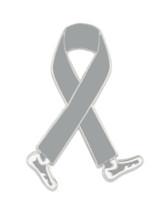 Walking Grey Ribbon Pin