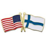 USA and Finland Flag Pin