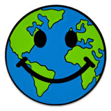 Smiley Earth Pin