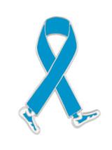 Walking Light Blue Ribbon Pin