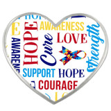 Autism Heart Words Pin