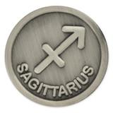 Antique Silver Sagittarius Zodiac Pin