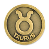 Antique Gold Taurus Zodiac Pin