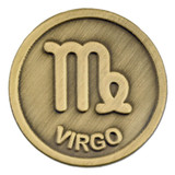 Antique Gold Virgo Zodiac Pin