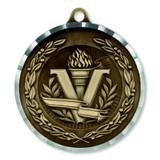 "2"" Diamond Cut Victory Medal - Engravable"