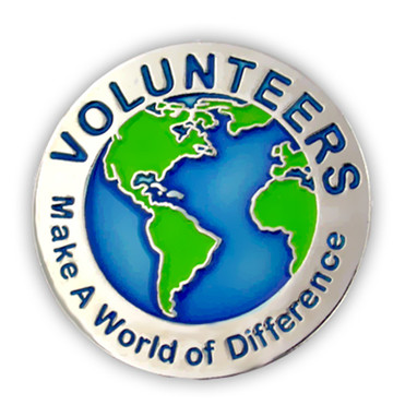 Volunteers Make a World of Difference Pin