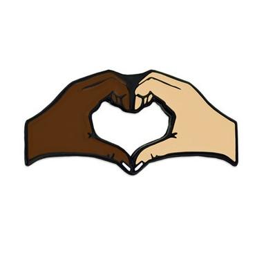 Unity Heart Hands Lapel Pin