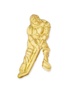 Gold Hockey Chenille Pin