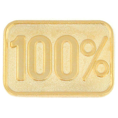 100% Lapel Pin