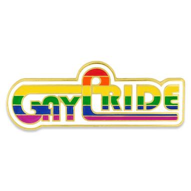 Retro Gay Pride Pin