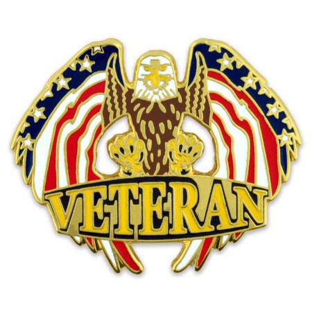 Veteran Eagle Pin Front