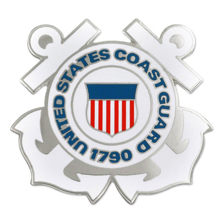 Large U.S. Coast Guard Pin - Officially Licensed Front