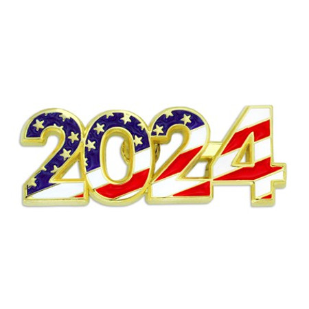 2024 Patriotic Year Pin Front