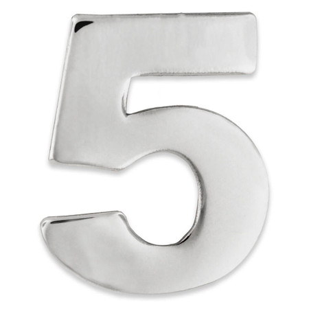 Silver  Number 5 Pin Front