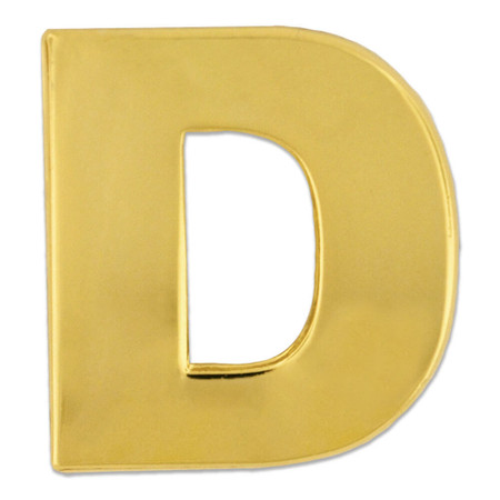 Gold D Pin Front